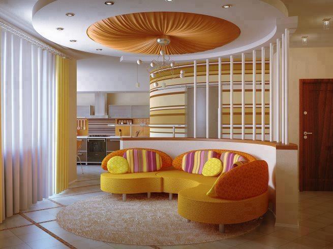Diseños de salas con falsos techos - Ideas de salas con estilo