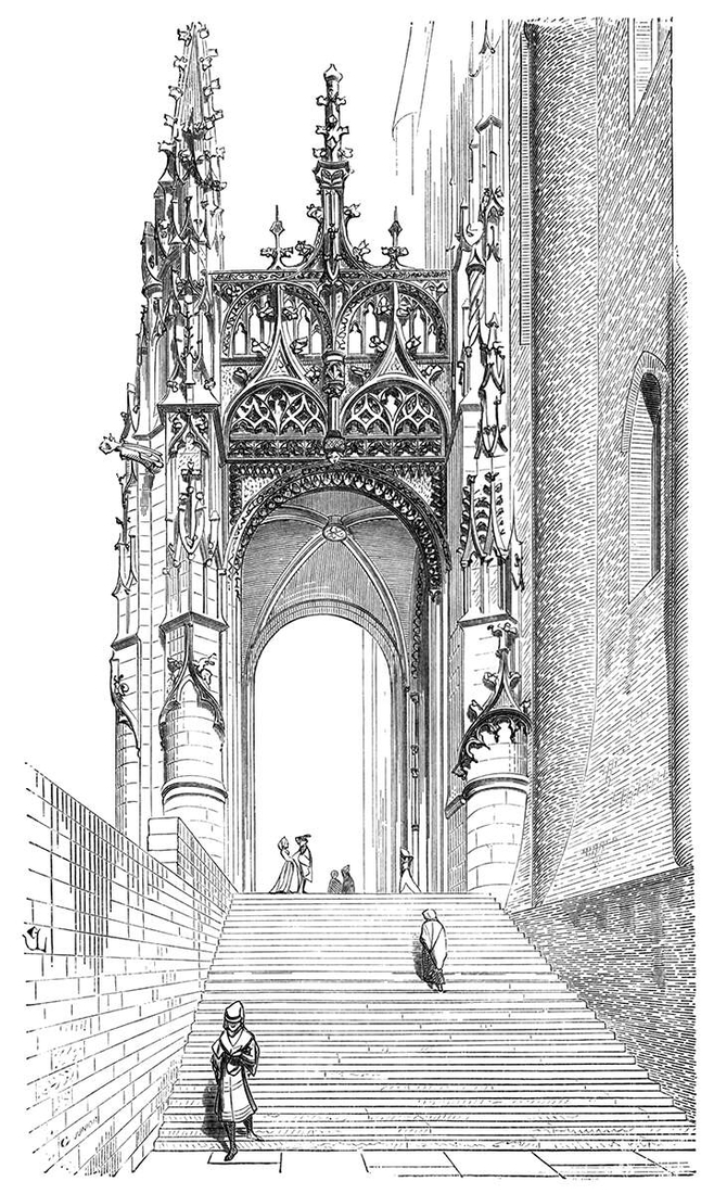 03-South-gate-of-Albi-Cathedral-Eugène-Viollet-le-Duc-Gothic-Drawings-from-an-Architect-in-18th-Century-www-designstack-co