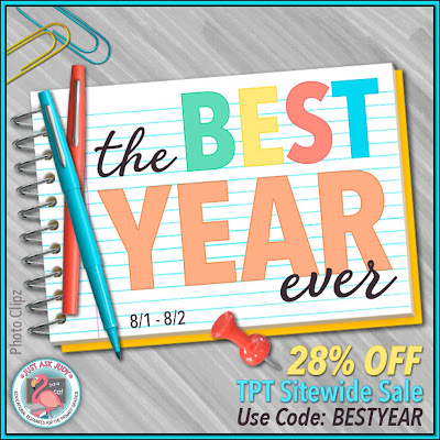 Enjoy 20% off all my resources, including bundles, August 1st- 3rd! Use the code at checkout on August 1st-2nd for a total of 28% off. It's time to envision your best year ever!