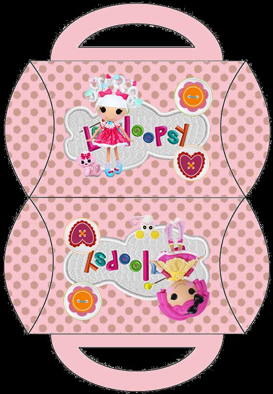 Lalaloopsy, Free Printable Pillow Box,