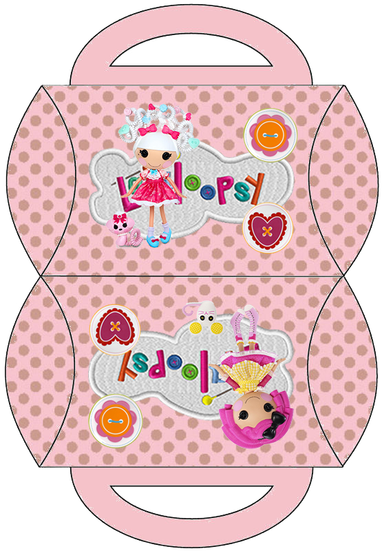 Caja almohada para imprimir gratis de Lalaloopsy.