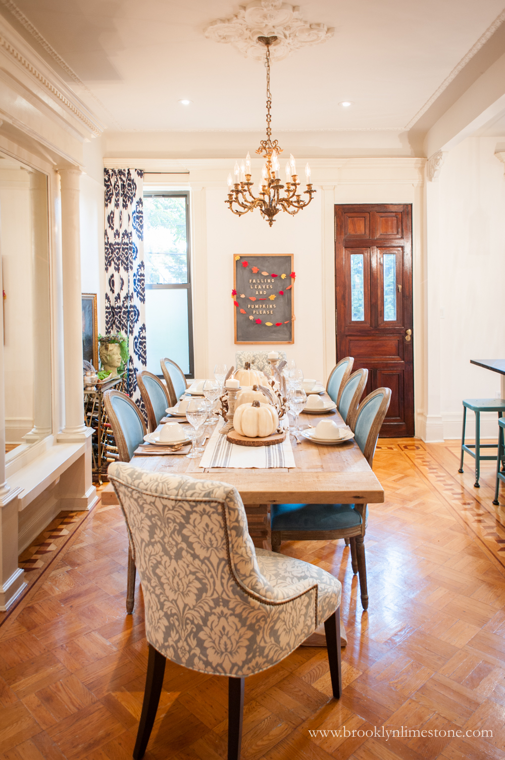 fall dining room | brooklyn limestone
