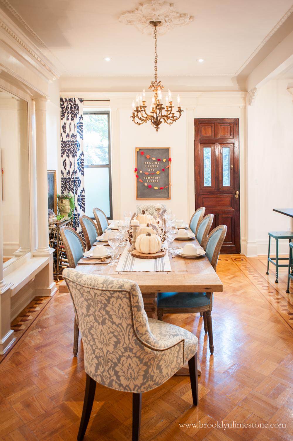 Fall Dining Room  Brooklyn Limestone