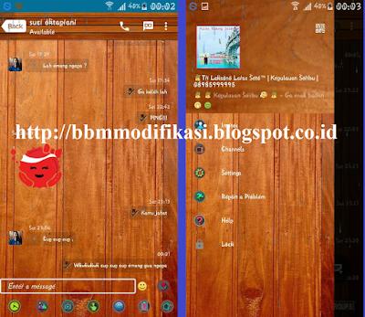 BBM Mod Tema Kayu (Wood) v2.12