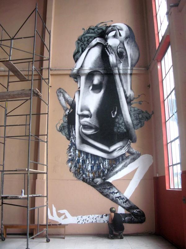 Мрачные рисунки на стенах. Ethos 39