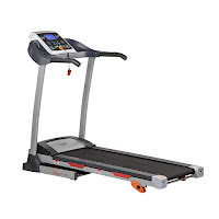 Sunny Health & Fitness SF-T4400 Treadmill, electric powered treadmill with 2.2 peak hp motor, 0.5-9 mph speed range, shock absorption system, 3 inclines, 9 programs