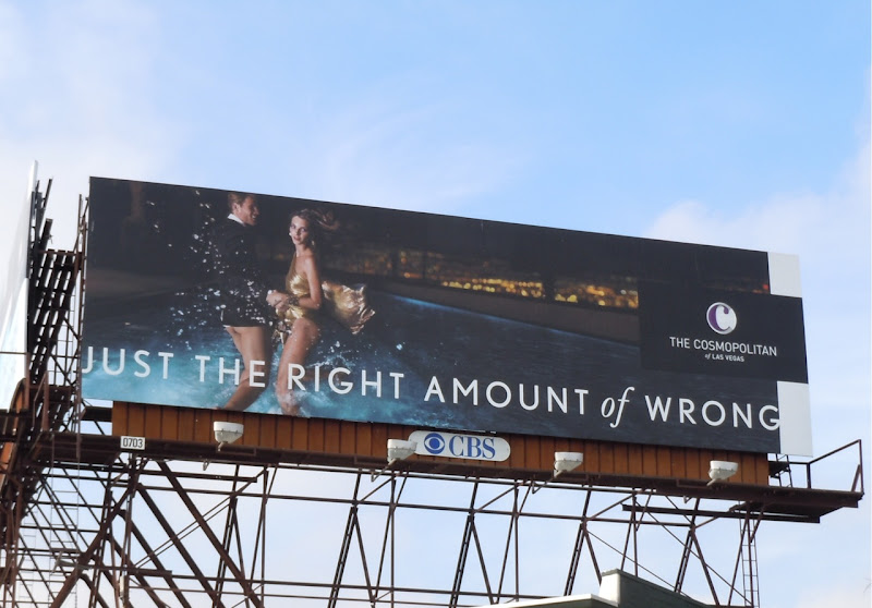 Right amount of wrong Cosmopolitan billboard