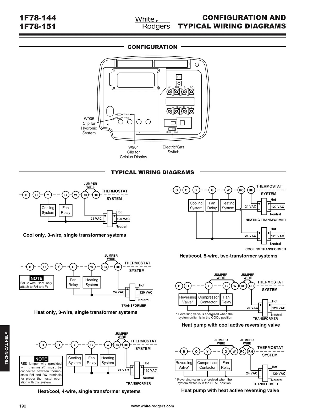 Emerson 1F78-144 Thermostat User Manual