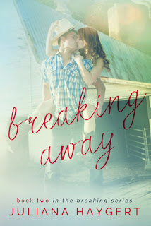 New adult contemporary novel Breaking Away by Juliana Haygert.