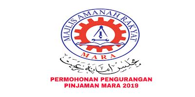 Permohonan Pengurangan Pinjaman MARA 2019 Online