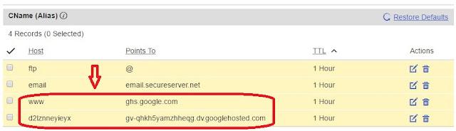 how to add godaddy custom domain in my blogspot