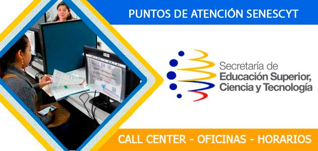 oficinas telefonos senescyt 2018