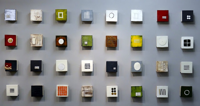 Wall of Small Squares  Lori Katz  Ceramics, c. 2015