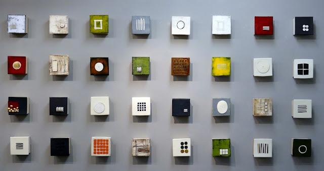 Wall of Small Squares  Lori Katz  Ceramics, c. 2015