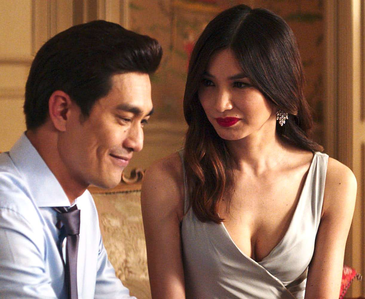 Michael Teo (Pierre Png) and Nick's cousin Astrid (Gemma Chan) in Crazy Rich Asians
