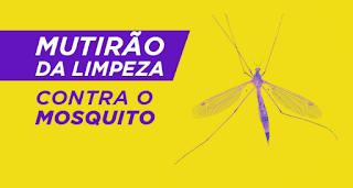 Mutirão da limpeza contra a Dengue passará pelo bairro Barra do Azeite