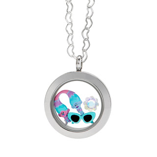 Trolls Satin and Chenille Origami Owl Living Locket available at StoriedCharms.origamiowl.com