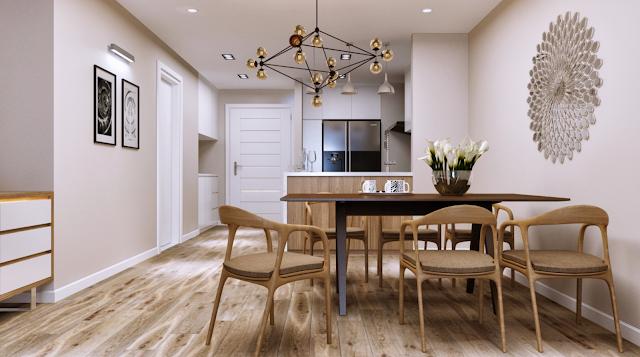 Phòng ăn chung cư Athena Fulland