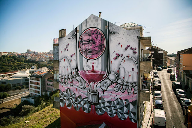 Second Street Art Mural By How Nosm For Underdogs 10 On The Streets Of Lisbon, Portugal 7