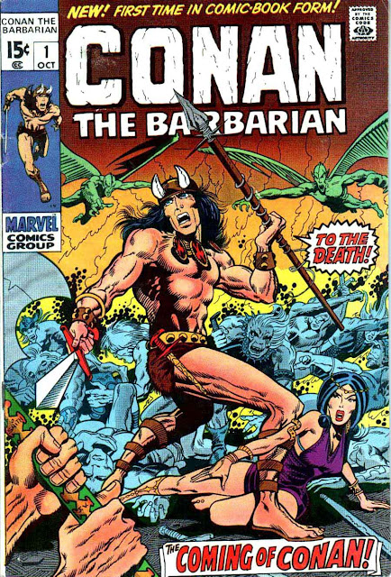 Conan the Barbarian v1 #1, 1970 marvel bronze age comic book cover art by Barry Windsor Smith