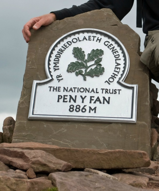Walks-in-South-Wales-Pen-Y-Fan-image-of-the-trig-point