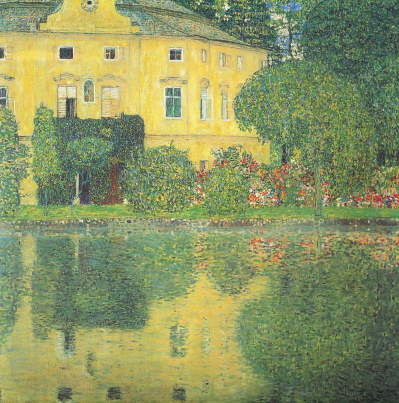 Paisajes y jardines Gustav Klimt - Schloss Kammer on Lake Attersee IV, 1910