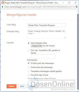 membuat template untuk blog