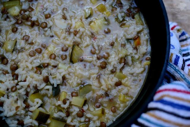 Menestra de arroz, calabacines y lentejas 04