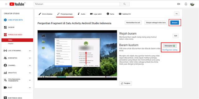 Cara Mudah Blur Video Youtube Tanpa Aplikasi
