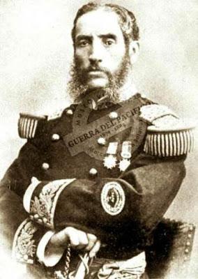 Retrato de Andrés Avelino Cáceres en grises