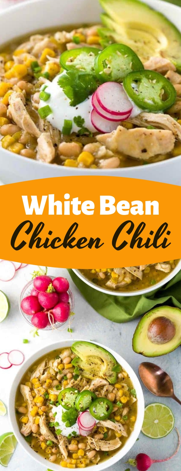 White Bean Chicken Chili #chicken #keto #soup