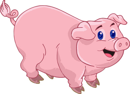 free clip art pink pig - photo #32