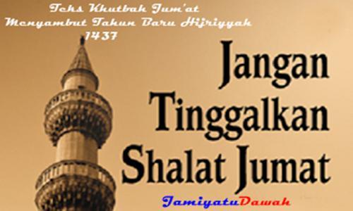 Contonh Teks Khutbah Jum'at Menyambut Tahun Baru Hijriya 1438