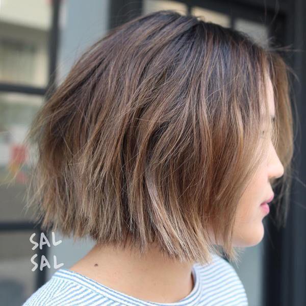 balayage hair short 2019