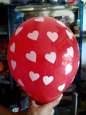 Balon Dekorasi Polkadot Motif Hati 12 Inchi