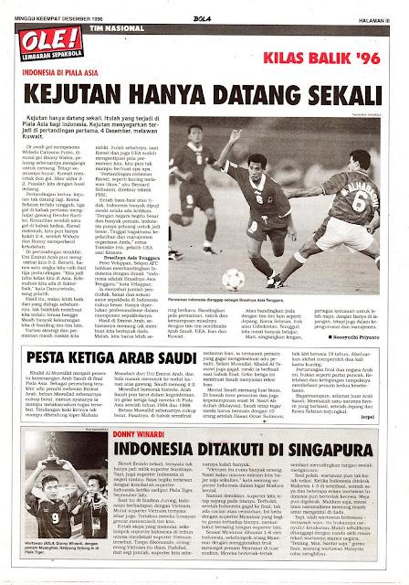 TIM NASIONAL KILAS BALIK 96 INDONESIA DI PIALA ASIA KEJUTAN HANYA DATANG SEKALI