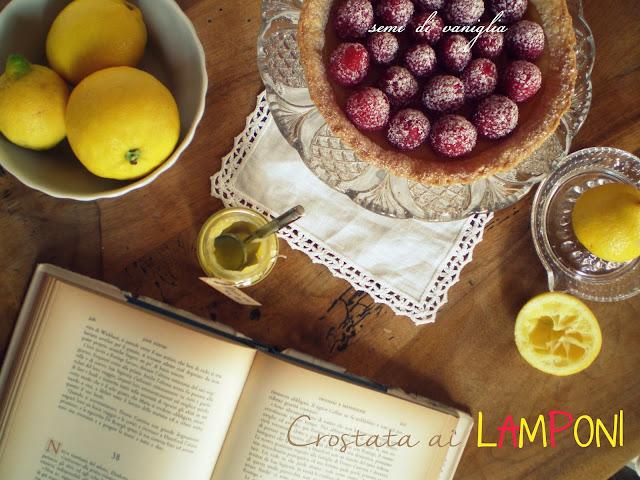 crostata lemon curd e lamponi
