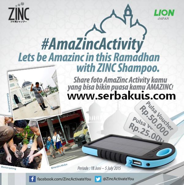 Kontes Foto AmaZinc Ramadhan Hadiah 3 Powerbank Solar & Pulsa