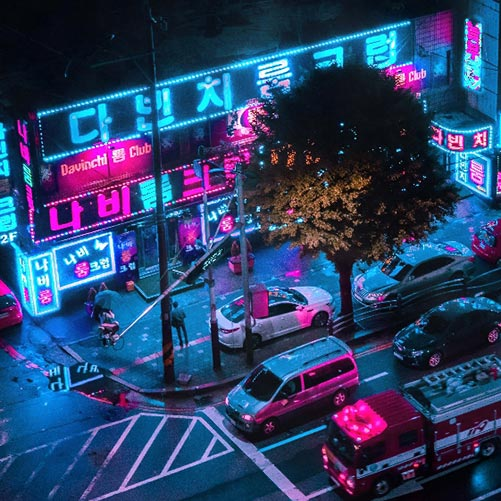 Neon Seoul Wallpaper Engine