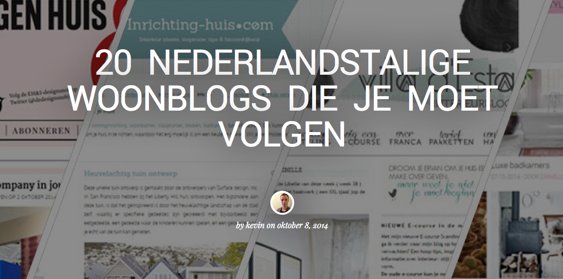 Top 20 interieur blogs NL/België