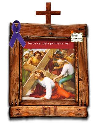 Caminho da Cruz - Jesus cai pela primeira vez