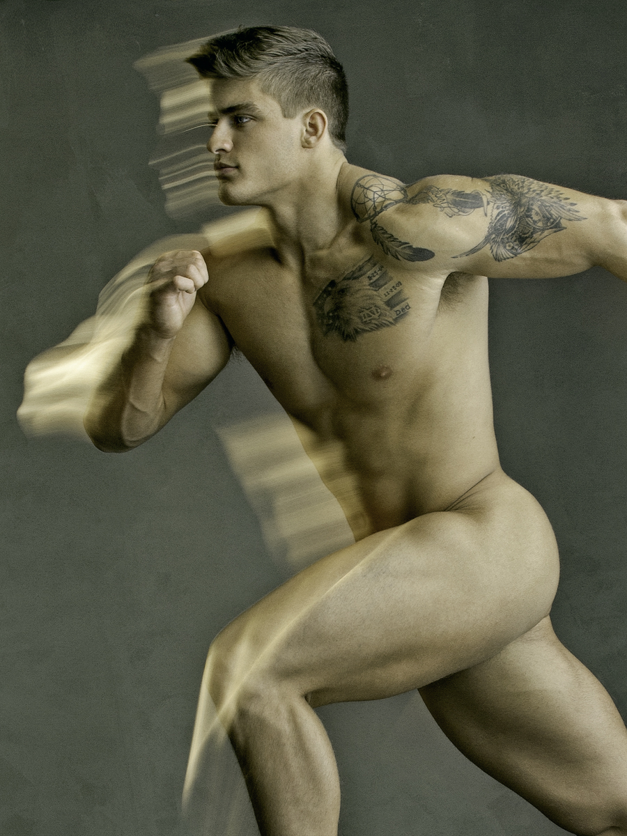 Naked Men Posing For David Vance
