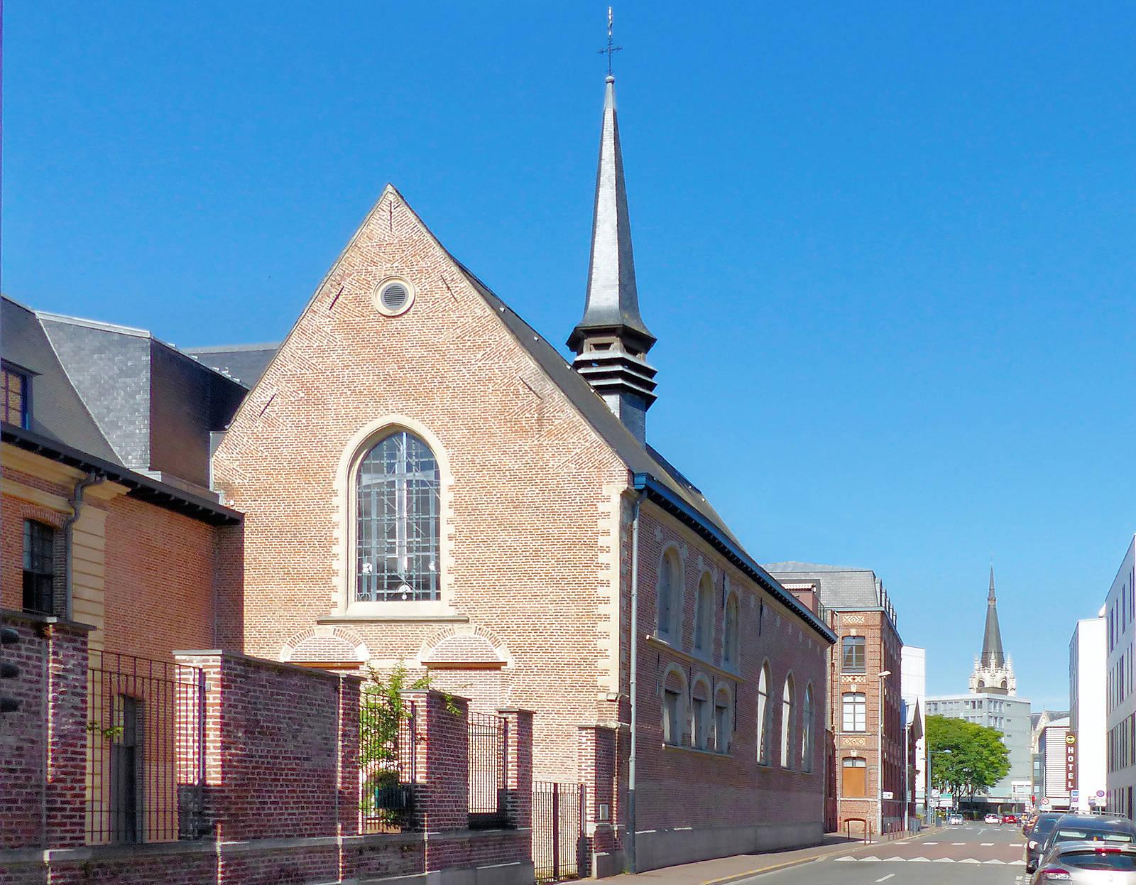 Extérieur de la chapelle depuis la rue de Tournai