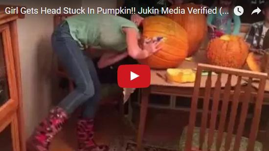 SCG VIRALS: Girl Gets Head Stuck In Pumpkin!! Jukin Media ...