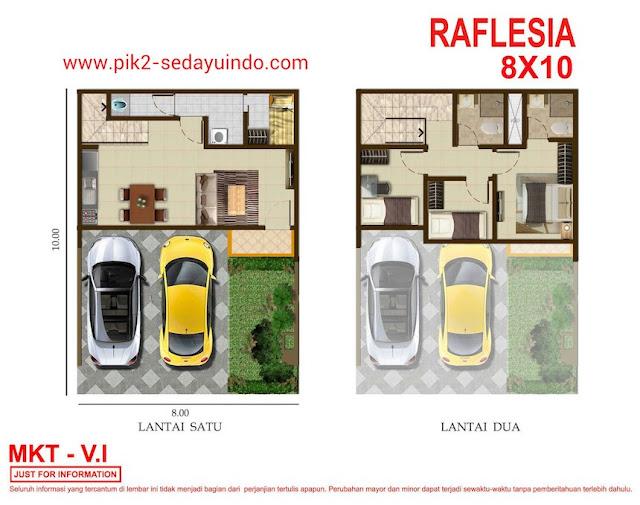 Rumah Pantai Indak Kapuk 2 Sedayu Indo City tipe Raflesia
