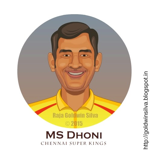dhoni cartoon-csk