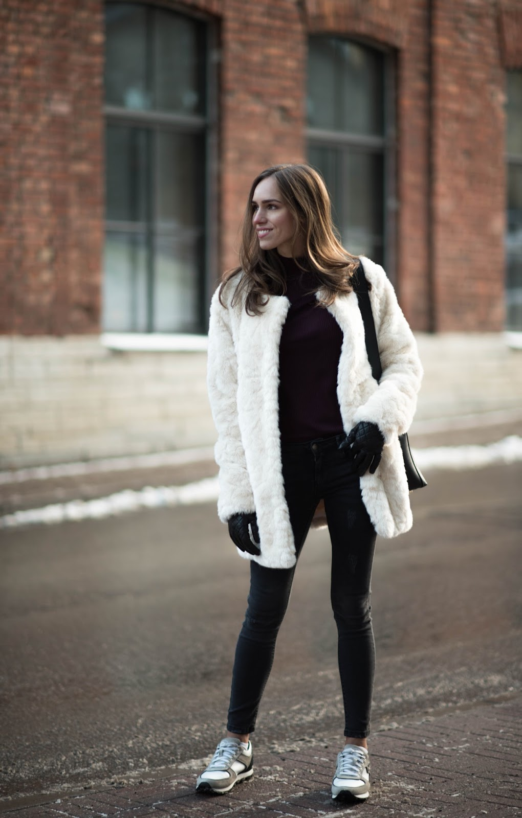 teddy coat skinny jeans outfit