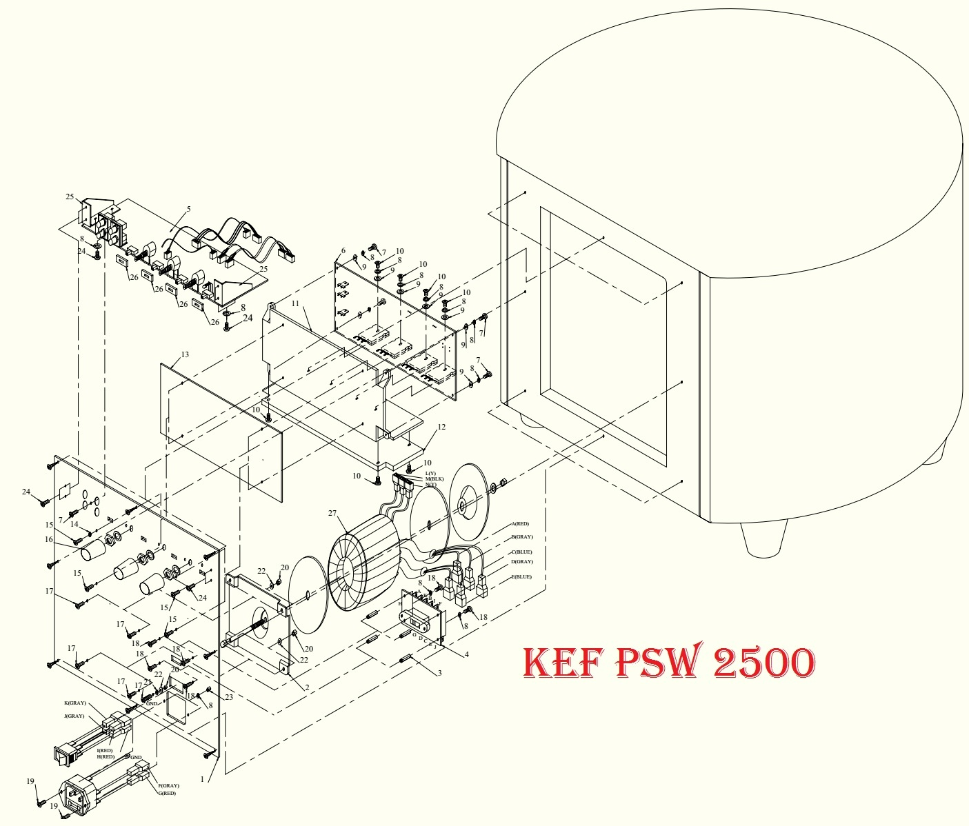 Kef Psw Powered Sub Woofer Schematic Diagram