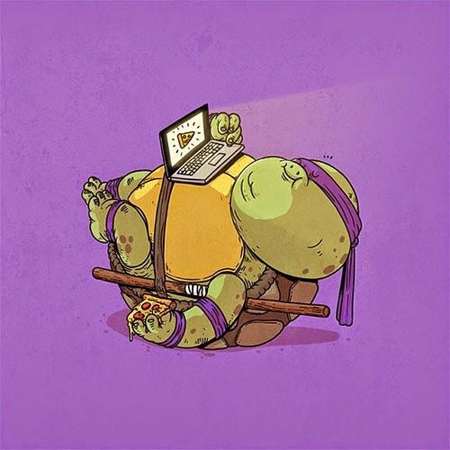 Fat Super Hero Gemuk - Ninja Turtle Fat Donatello