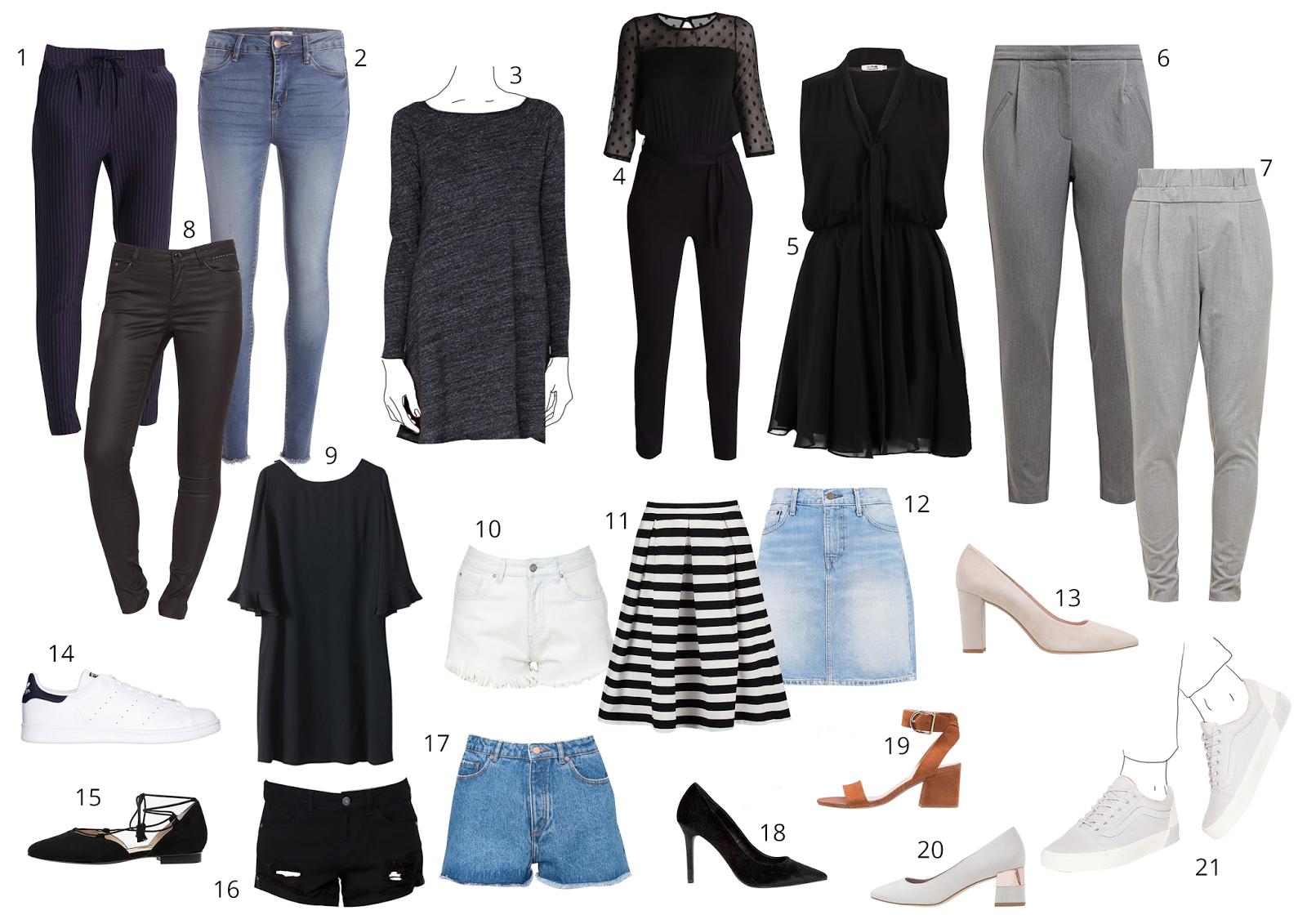Sélection shopping petite robe noire pantalon
